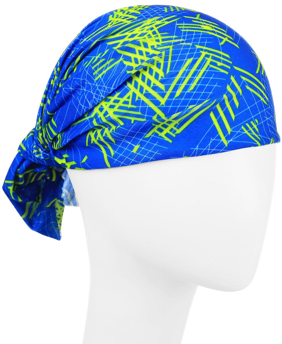 Повязка на голову Maxval, цвет: синий. PoY100228. Размер универсальныйPoY100228Повязка на голову Maxval выполнена из хлопка с эластаном в яркой цветовой гамме. Размер универсальный. Возможны различные варианты носки.