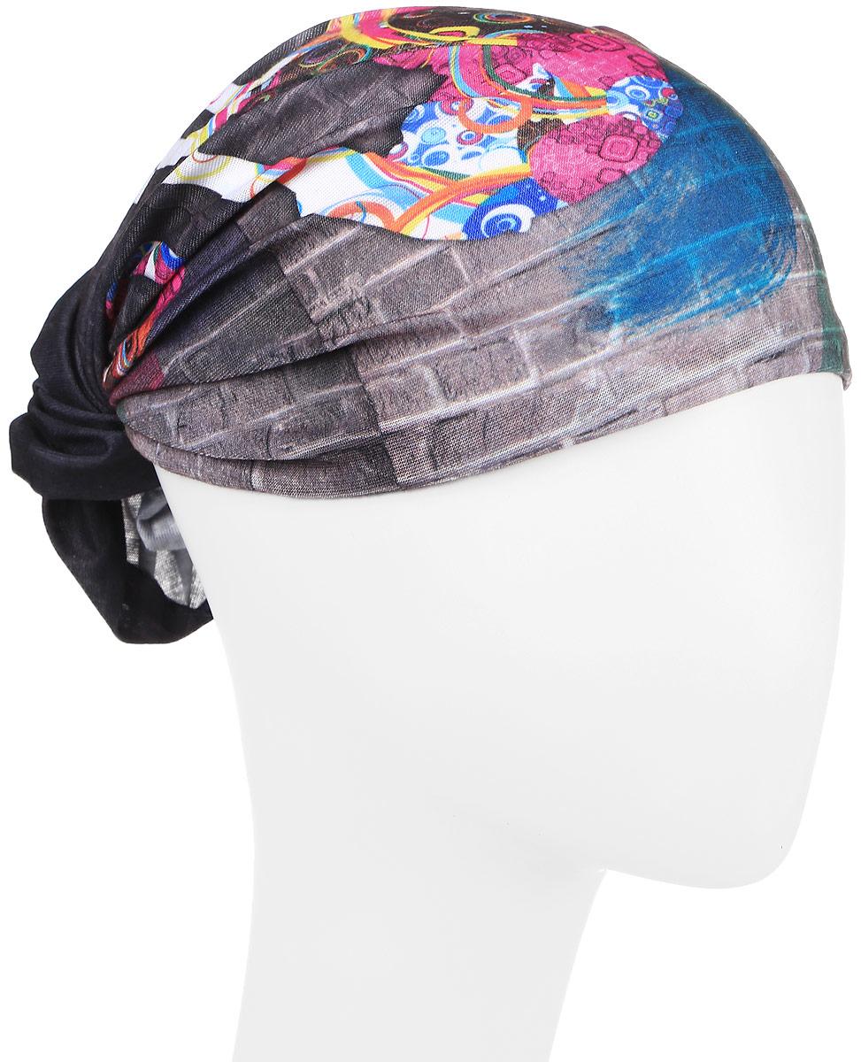 Повязка на голову Maxval, цвет: серый. PoY100235. Размер универсальныйPoY100235Повязка на голову Maxval выполнена из хлопка с эластаном в яркой цветовой гамме. Размер универсальный. Возможны различные варианты носки.