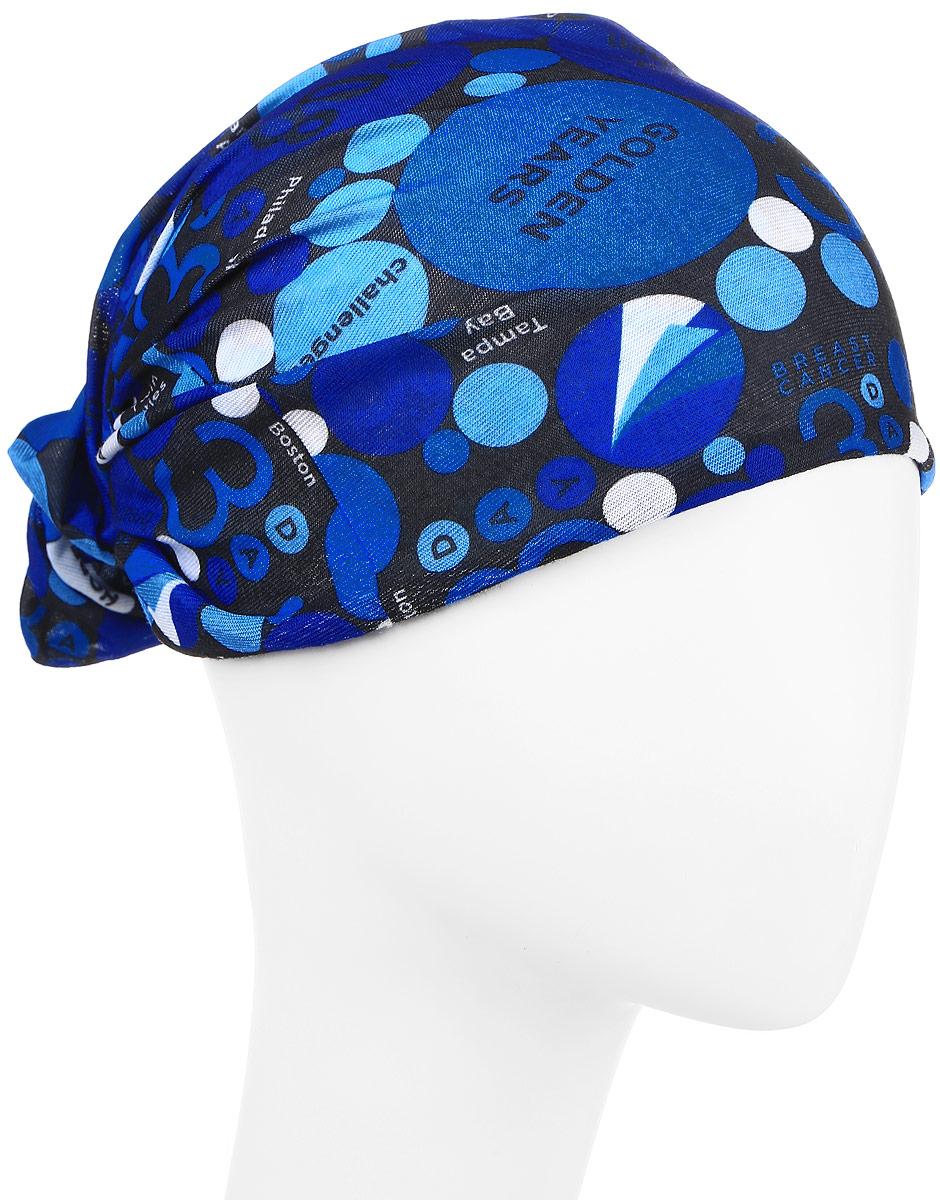 Повязка на голову Maxval, цвет: синий. PoY100244. Размер универсальныйPoY100244Повязка на голову Maxval выполнена из хлопка с эластаном в яркой цветовой гамме. Размер универсальный. Возможны различные варианты носки.
