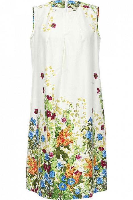 Платье Finn Flare, цвет: белый. S17-11084_201. Размер L (48)S17-11084_201Платье Finn Flare выполнено из натурального хлопка. Модель с круглым вырезом горловины сзади застегивается на молнию.