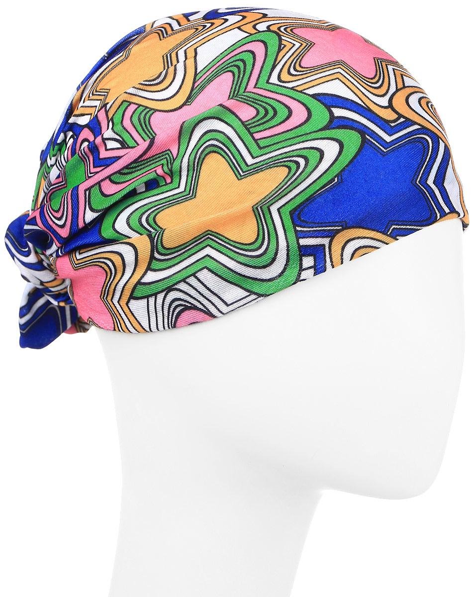Повязка на голову Maxval, цвет: мультиколор. PoY100245. Размер универсальныйPoY100245Повязка на голову Maxval выполнена из хлопка с эластаном в яркой цветовой гамме. Размер универсальный. Возможны различные варианты носки.