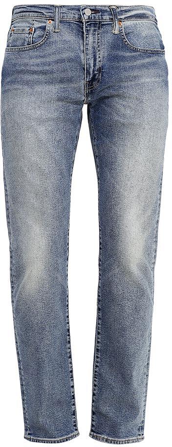 Джинсы мужские Levis® 502, цвет: голубой. 2950700150. Размер 31-32 (48-32)2950700150Мужские джинсы Levis® 502 изготовлены из эластичного хлопка. Джинсы средней посадки застегиваются на молнию и металлическую пуговицу. На поясе имеются шлевки для ремня. Спереди расположены два втачных кармана и один небольшой накладной кармашек, а сзади - два накладных кармана. Модель слегка заужена к низу и оформлена эффектом потертости.