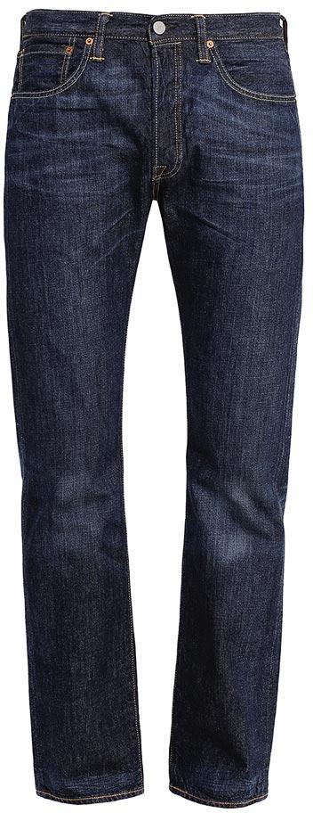 Джинсы мужские Levis® 501, цвет: темно-синий. 50123740. Размер 31-32 (48-32)50123740Мужские джинсы Levis®501 изготовлены из плотного денима. Модель со стандартной посадкой и фирменной ширинкой на болтах слегка заужена к низу. Спереди расположены два втачных кармана и один маленький накладной, а сзади - два накладных кармана. Изделие оформлено эффектом потертости.