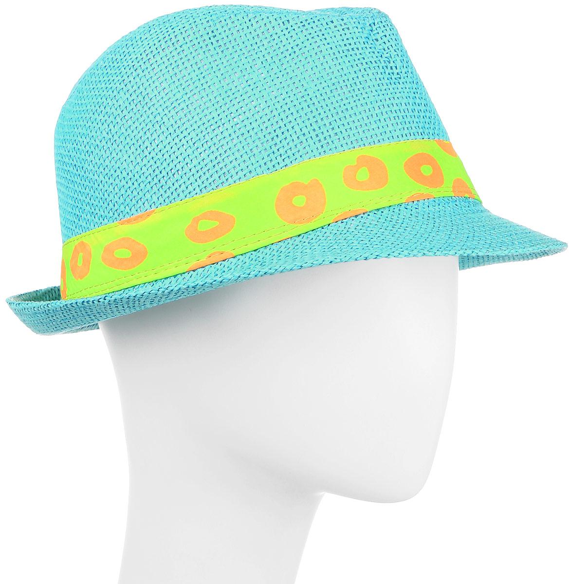 Шляпа женская Maxval, цвет: голубой. HtY131011. Размер 56HtY131011Модная шляпа Maxval выполнена из качественной бумажной соломки. Шляпа с полями дополнена лентой контрастного цвета. Эта модель станет отличным аксессуаром и дополнит ваш повседневный образ.
