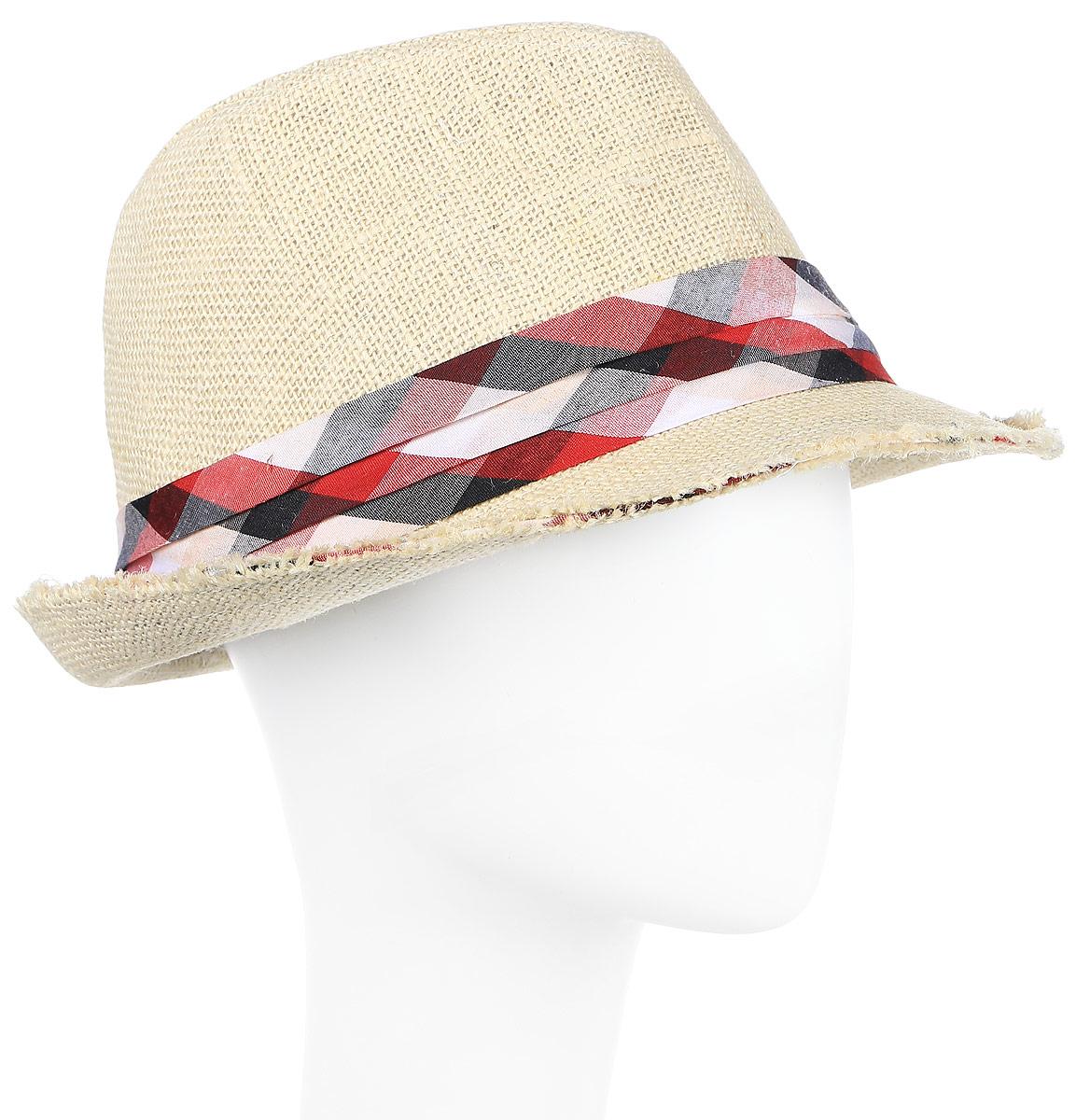 Шляпа муж Imojo, цвет: белый. HtY131003. Размер 57HtY131003Молодежная шляпа с лентой.