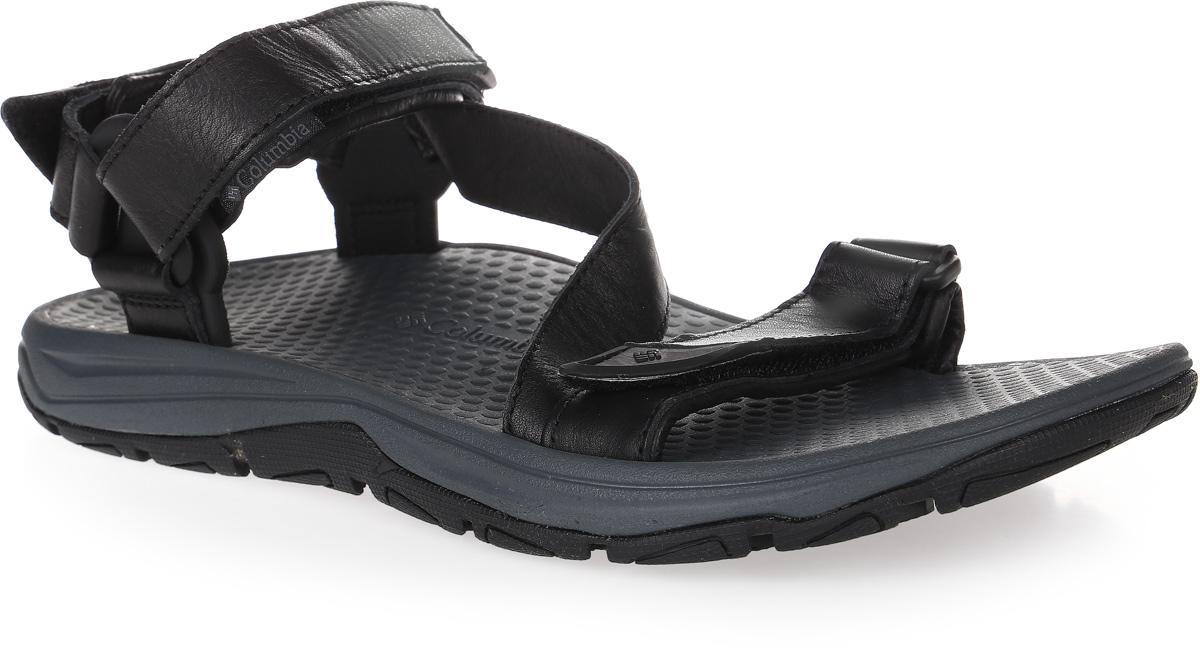 Сандалии мужские Columbia Big Water Leather, цвет: черный. 1760141-010. Размер 9 (42)1760141-010Универсальные мужские сандалии Columbia Big Water Leather выполнены из натуральной кожи. Модель фиксируется благодаря ремешкам на застежках-липучках, регулирующим нужный объем. Подкладка также исполнена из натуральной кожи. Анатомическая форма подошвы позволяет ногам чувствовать себя наиболее комфортно. Технология FluidFrame разработана длядополнительной поддержки стопы. Промежуточная подошва из материала Techliteобеспечивает отличную амортизацию и поддержку. Подметка выполнена из резины Omni-Grip, разработанной специально для ходьбы по влажным поверхностям. Такие сандалии подойдут как для путешествий, туристических походов, так и для повседневной жизни или отдыха.