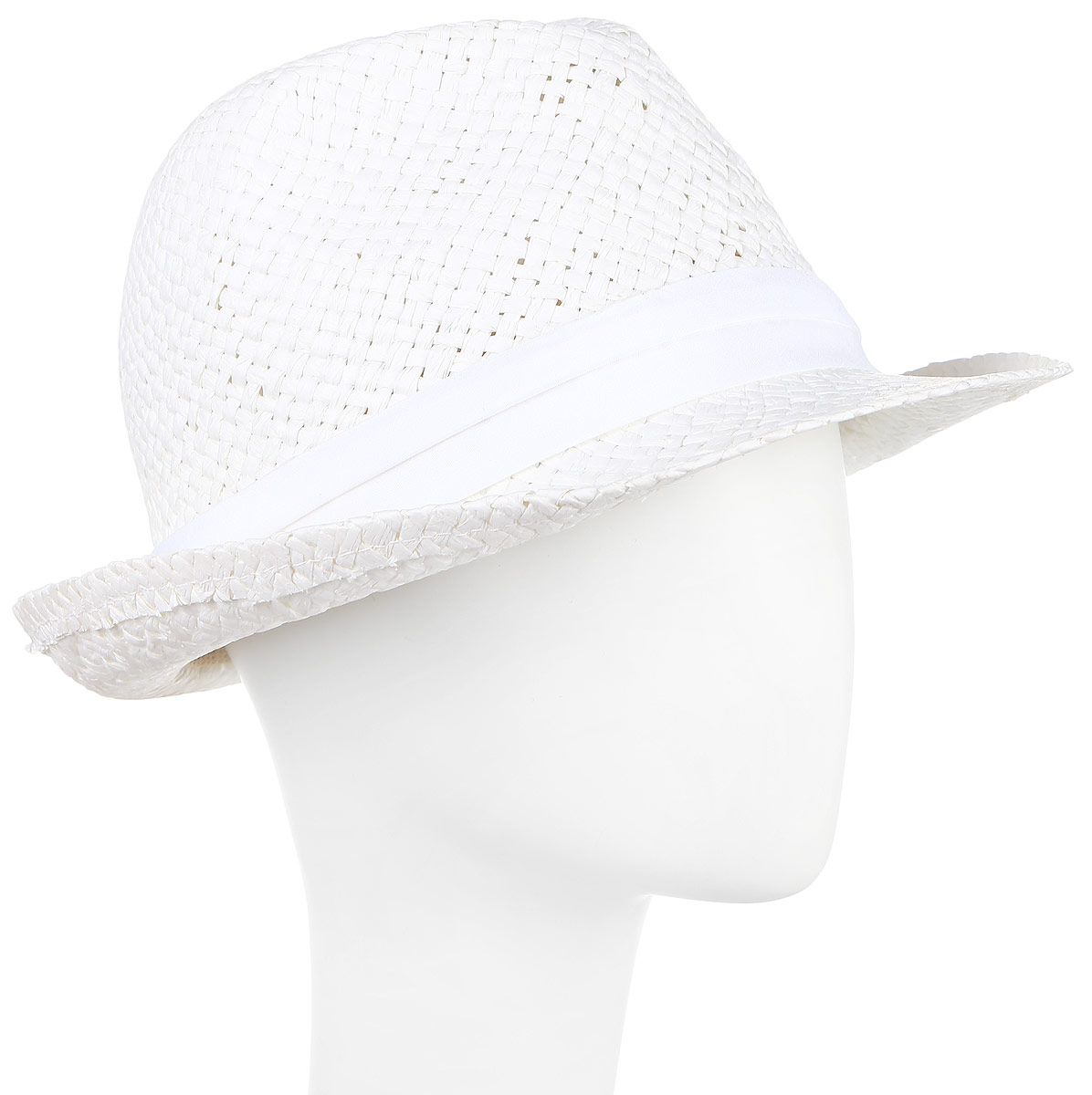 Шляпа муж Imojo, цвет: белый. HtY131004. Размер 58HtY131004Молодежная шляпа с ремешком.