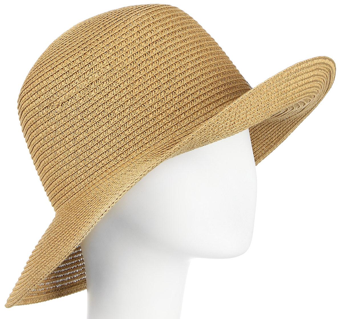 Шляпа женская Maxval, цвет: бежевый. HtW100277. Размер 57HtW100277Модная шляпа Maxval выполнена из качественной бумажной соломки. Шляпа с широкими полями дополнена бантом контрастного цвета. Эта модель станет отличным аксессуаром и дополнит ваш повседневный образ.