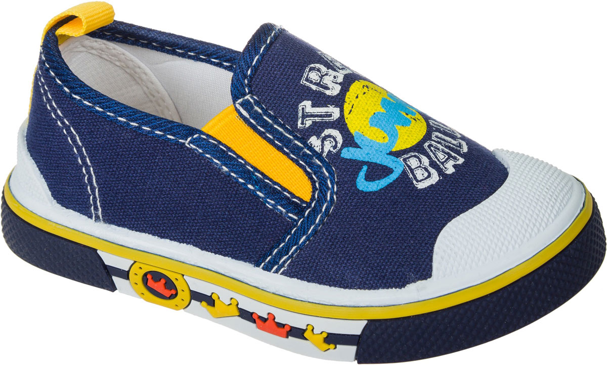 Слипоны для мальчика Mursu, цвет: синий. 101211. Размер 24101211