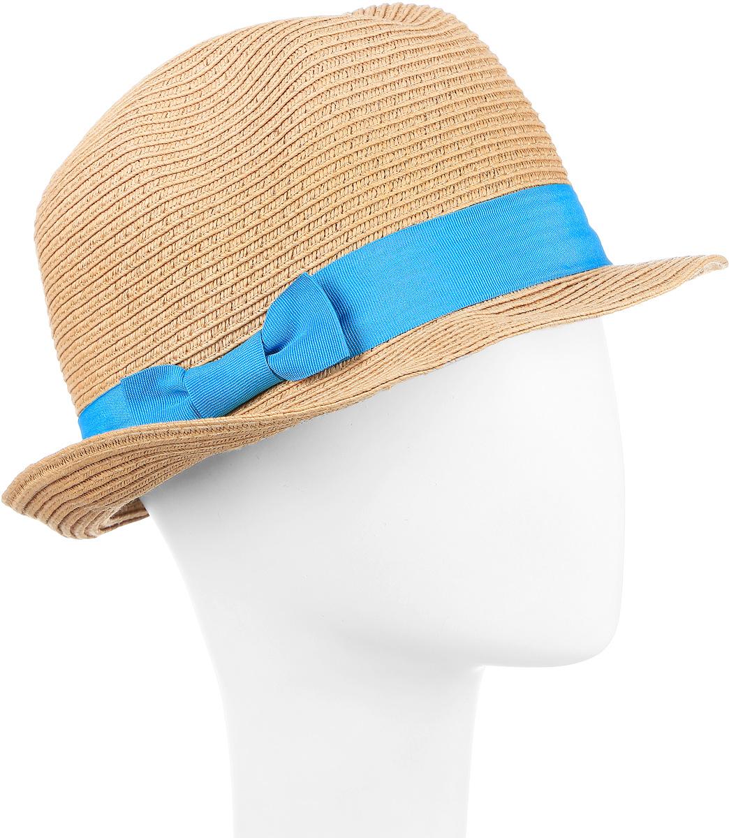 Шляпа Maxval, цвет: темно-бежевый. HtY131007. Размер 56HtY131007Модная шляпа Maxval выполнена из качественной бумажной соломки. Шляпа с полями дополнена контрастной лентой. Эта модель станет отличным аксессуаром и дополнит ваш повседневный образ.