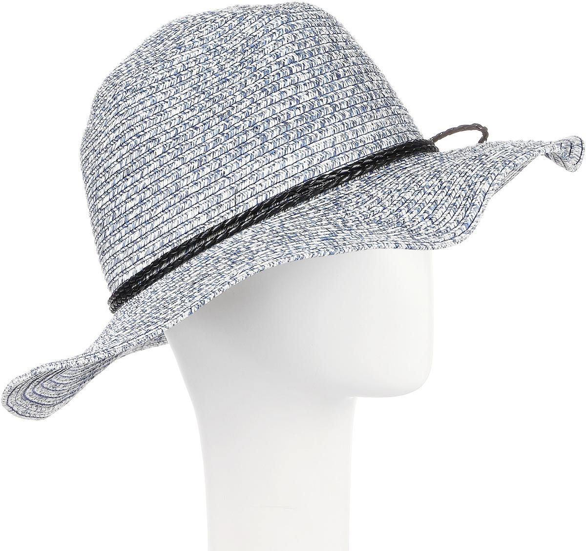 Шляпа женская Maxval, цвет: джинс. HtW100291. Размер 57HtW100291Модная шляпа Maxval выполнена из качественной бумажной соломки. Шляпа с широкими полями дополнена плетеным шнурком. Эта модель станет отличным аксессуаром и дополнит ваш повседневный образ.