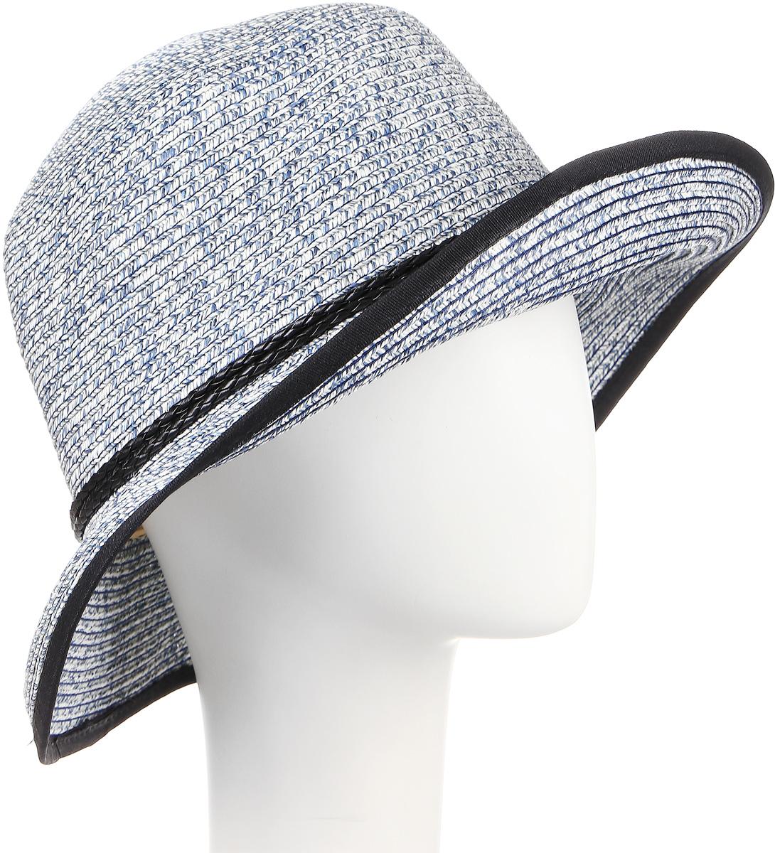 Шляпа женская Maxval, цвет: джинс. HtW100282. Размер 58HtW100282Модная шляпа Maxval выполнена из качественной бумажной соломки. Шляпа с широкими полями дополнена декоративным плетеным шнурком. Эта модель станет отличным аксессуаром и дополнит ваш повседневный образ.