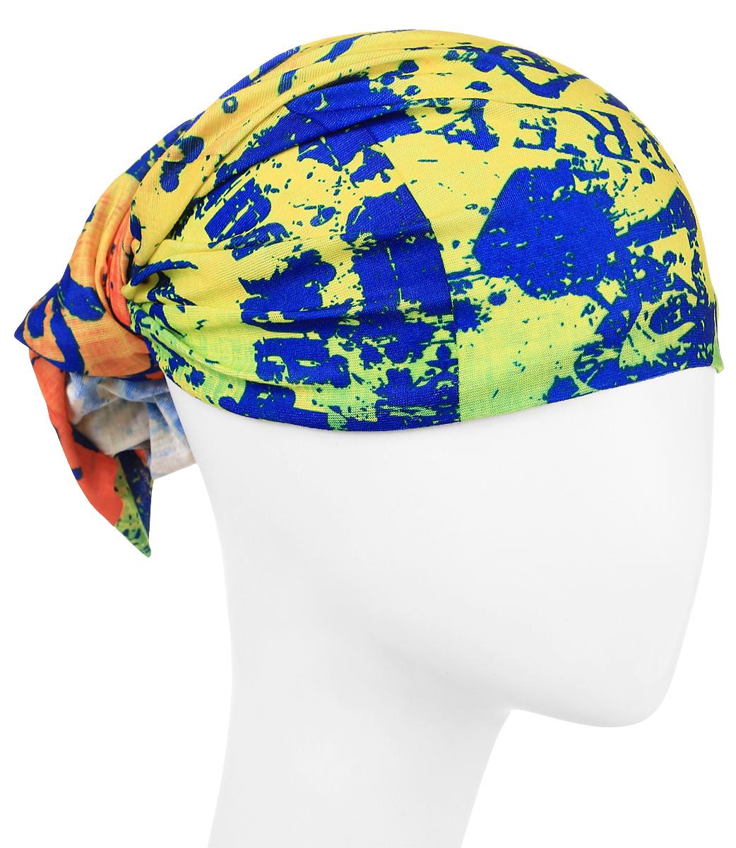 Повязка на голову Maxval, цвет: желтый. PoY100220. Размер универсальныйPoY100220Повязка на голову Maxval выполнена из хлопка с эластаном в яркой цветовой гамме. Размер универсальный. Возможны различные варианты носки.