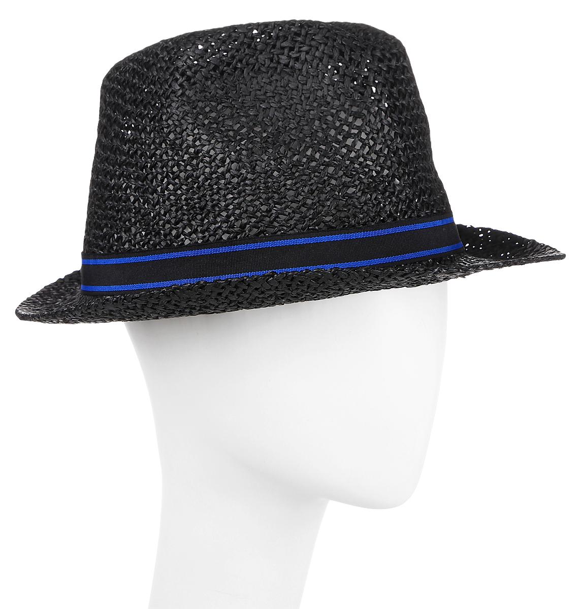 Шляпа мужская Maxval, цвет: черный. HtM141004. Размер 58HtM141004Традиционная шляпа-федора дополнена декоративной лентой. Модель для расслабленного отдыха. Плетение хорошо пропускает воздух.