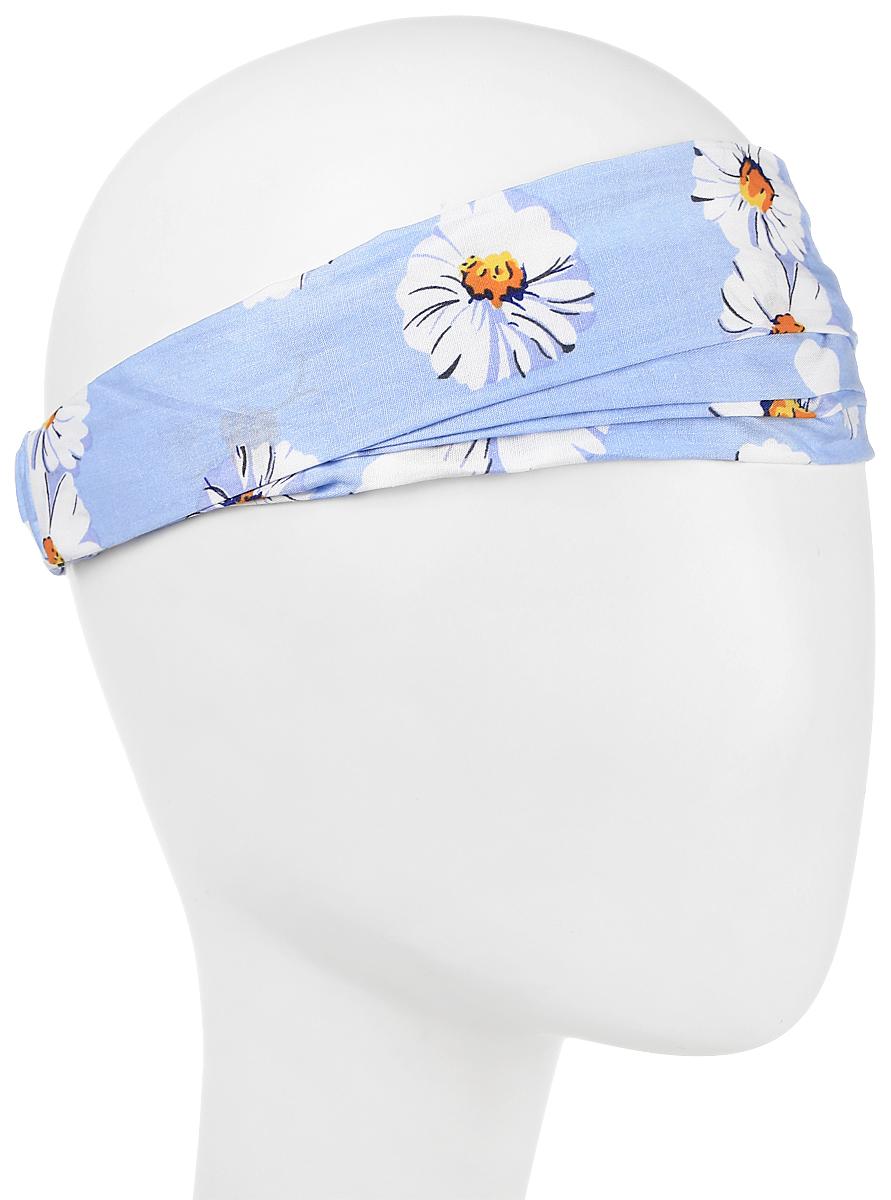 Повязка на голову женская Maxval, цвет: голубой. PoW100274. Размер 26 смPoW100274Повязка на голову Maxval выполнена из хлопка в яркой цветовой гамме. Размер универсальный. Возможны различные варианты носки.