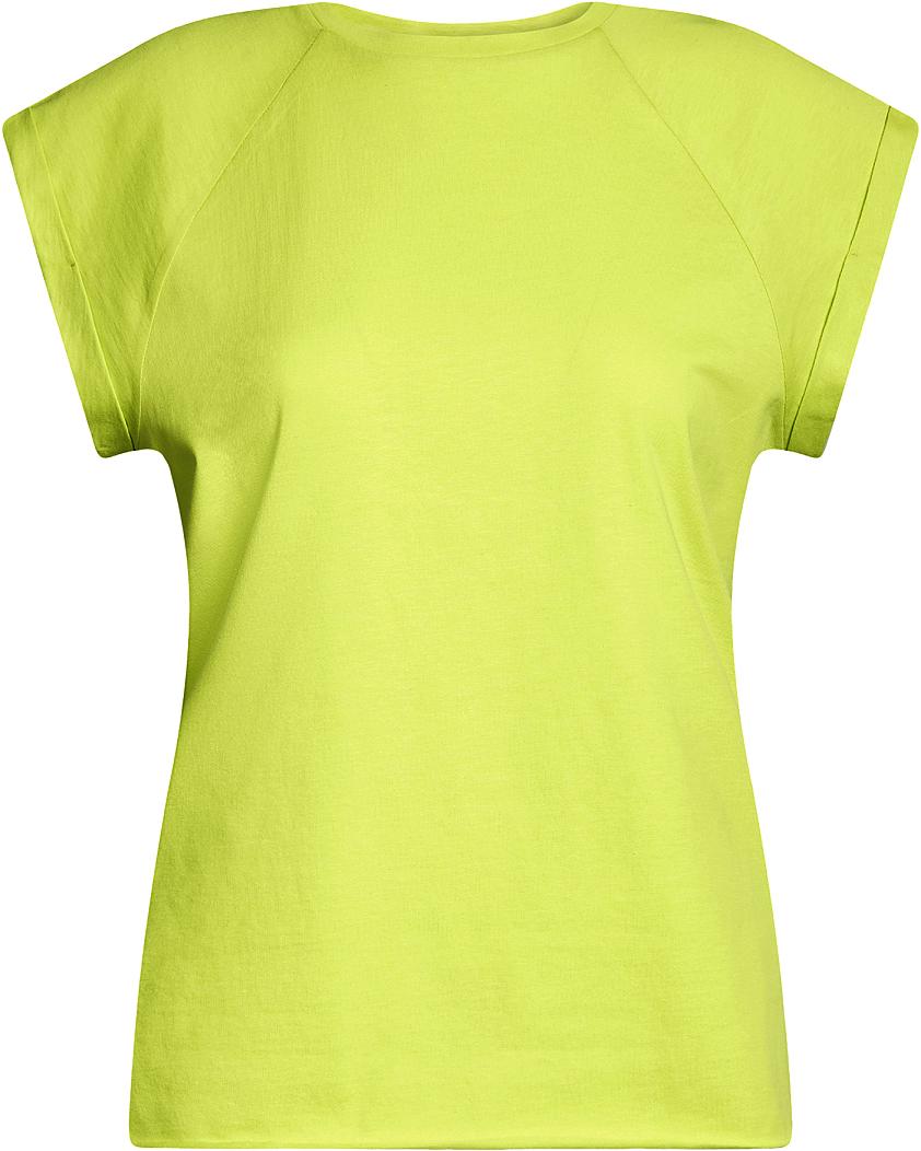 Футболка женская oodji Ultra, цвет: салатовый. 14707001B/46154/6A00N. Размер M (46)14707001B/46154/6A00NБазовая футболка свободного кроя с круглым вырезом горловины и короткими рукавами-реглан выполнена из натурального хлопка.