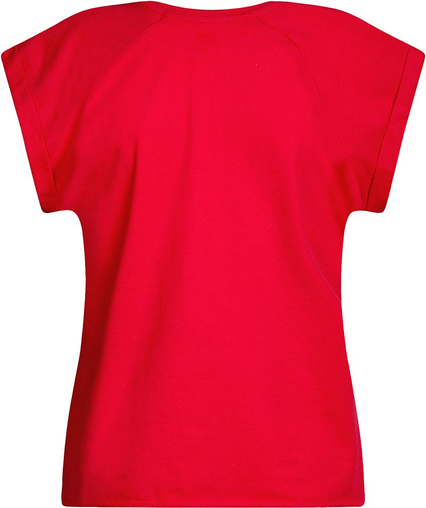 Футболка женская oodji Ultra, цвет: красный. 14707001B/46154/4500N. Размер S (44)14707001B/46154/4500NБазовая футболка свободного кроя с круглым вырезом горловины и короткими рукавами-реглан выполнена из натурального хлопка.