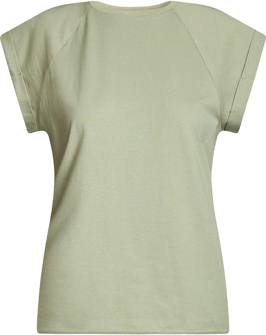 Футболка женская oodji Ultra, цвет: светло-зеленый. 14707001B/46154/6000N. Размер L (48)14707001B/46154/6000NБазовая футболка свободного кроя с круглым вырезом горловины и короткими рукавами-реглан выполнена из натурального хлопка.