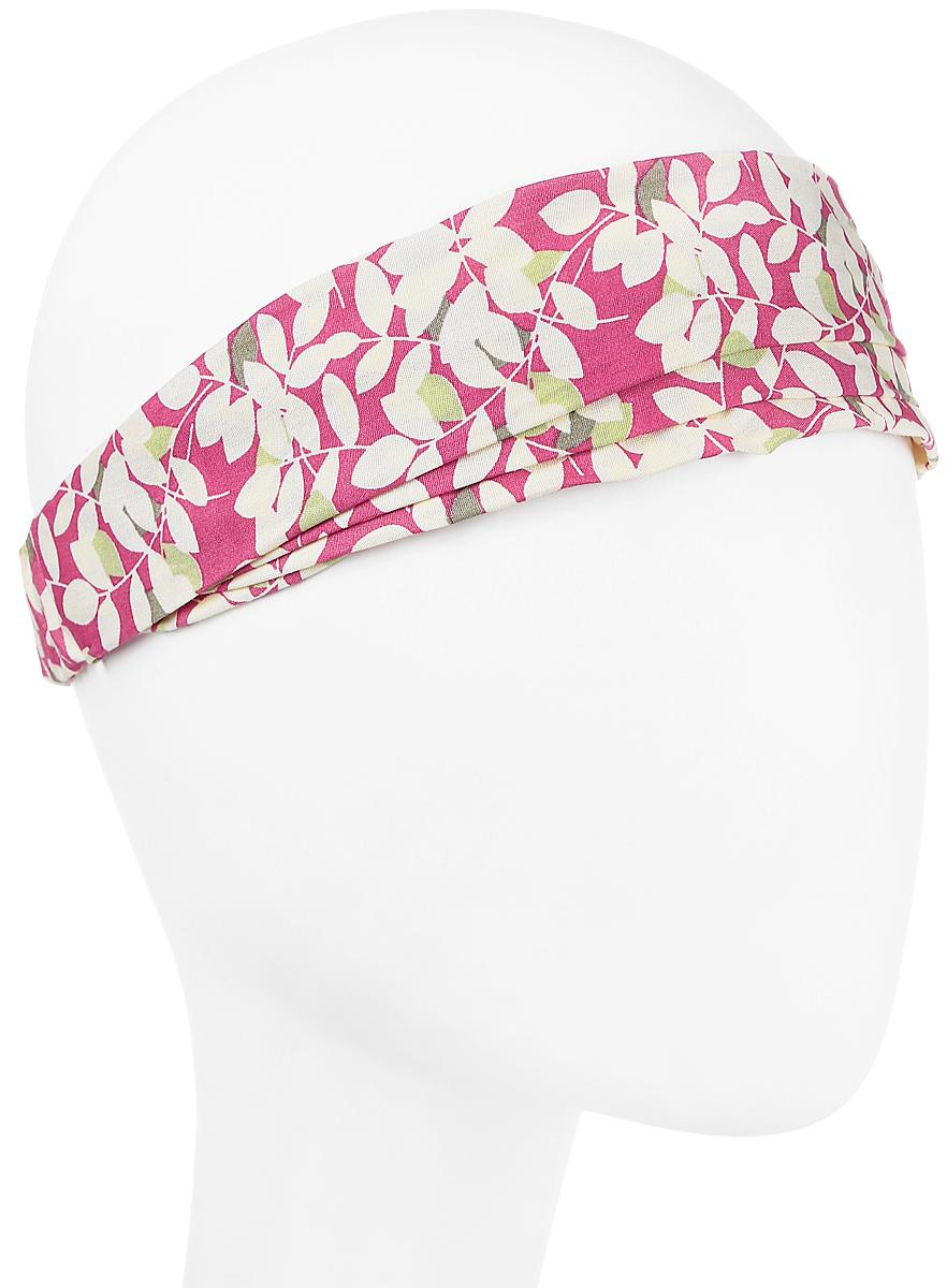 Повязка на голову женская Maxval, цвет: розовый. PoW141031. Размер универсальныйPoW141031Повязка на голову выполнена из хлопка в яркой цветовой гамме. Размер универсальный. Возможны различные варианты носки.