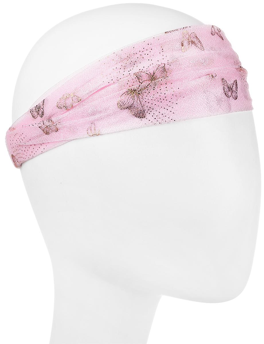 Повязка на голову женская Maxval, цвет: розовый. PoW100277. Размер 26 смPoW100277Повязка на голову Maxval выполнена из полиэстера в яркой цветовой гамме. Размер универсальный. Возможны различные варианты носки.