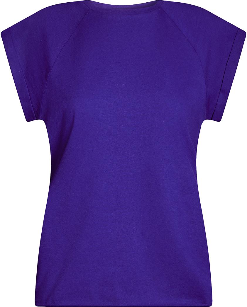 Футболка женская oodji Ultra, цвет: синий. 14707001B/46154/7503N. Размер L (48)14707001B/46154/7503NБазовая футболка свободного кроя с круглым вырезом горловины и короткими рукавами-реглан выполнена из натурального хлопка.