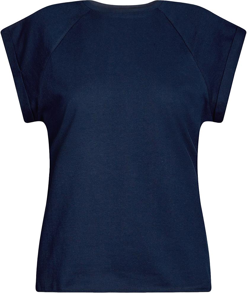 Футболка женская oodji Ultra, цвет: темно-синий. 14707001B/46154/7900N. Размер S (44)14707001B/46154/7900NБазовая футболка свободного кроя с круглым вырезом горловины и короткими рукавами-реглан выполнена из натурального хлопка.