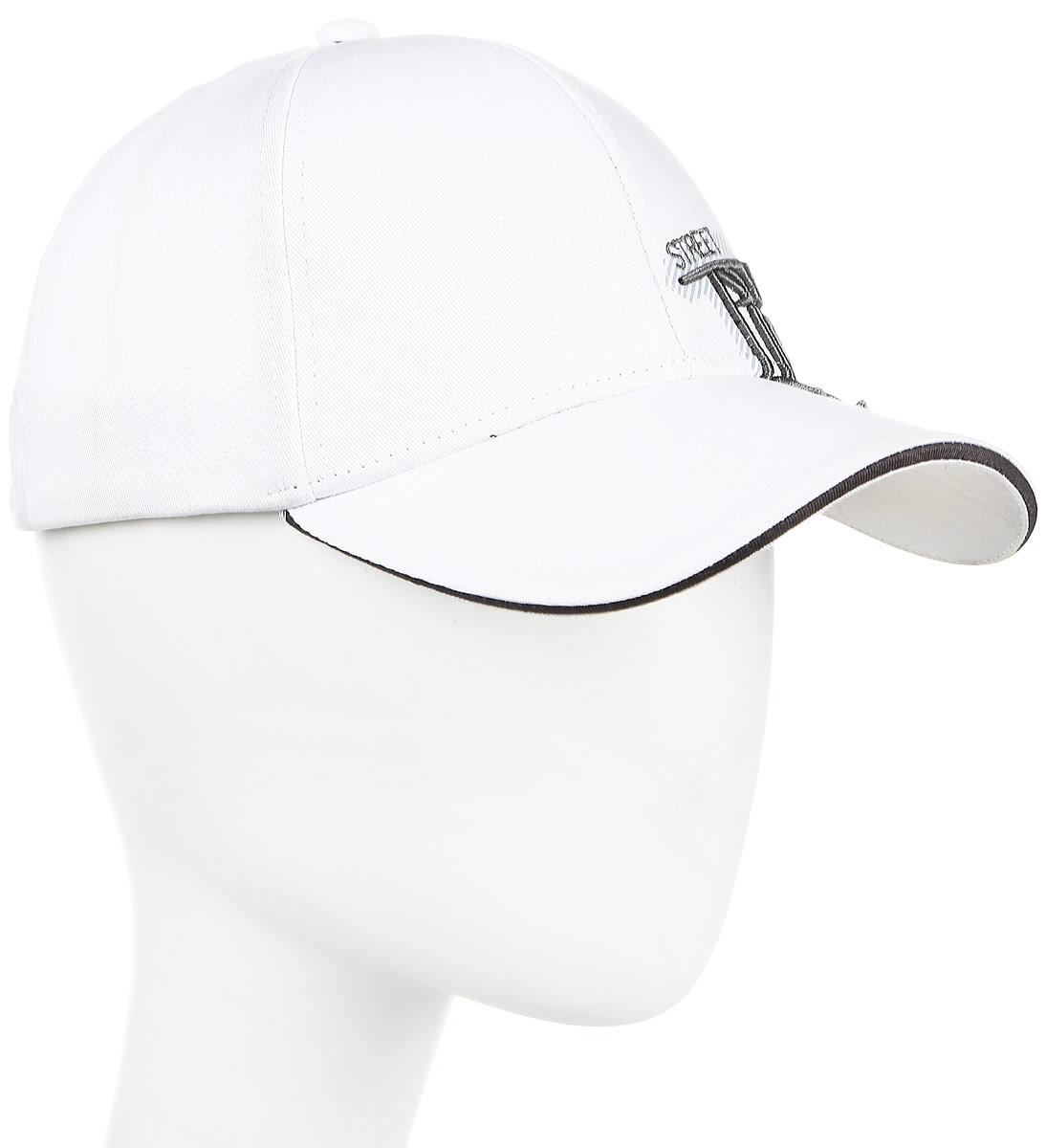 Бейсболка муж Imojo, цвет: белый. BY131050. Размер 57/59BY131050Модная, стильная молодежная бейсболка