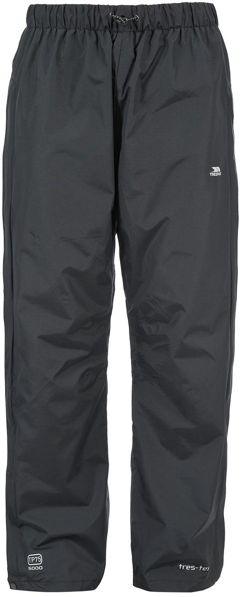 Брюки спортивные мужские Trespass Purnell, цвет: черный. MABTRAK20003. Размер M (50)MABTRAK20003Великолепные плотные мембранные брюки для занятия туризмом Trespass Purnell выполнены из полиамида. Широкий пояс на эластичной резинке с завязками.