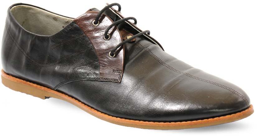 Туфли мужские Vera Victoria Vito, цвет: черный, коричневый. 4-560-1. Размер 404-560-1Элегантные мужские туфли от Vera Victoria Vitoзаймут достойное место среди вашей коллекции обуви. Модель выполнена из натуральной высококачественной кожи и оформлена прострочкой на подъеме. Шнуровка позволяет прочно зафиксировать модель на ноге. Стелька из натуральной кожи позволяет вашим ногам дышать. Каблук и подошва с рифлением обеспечивают отличное сцепление с поверхностью. Стильные туфли прекрасно дополнят ваш деловой образ.