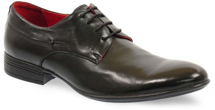Туфли мужские Vera Victoria Vito, цвет: черный. 3-566-1-LUX. Размер 403-566-1-LUXЭлегантные мужские туфли от Vera Victoria Vitoзаймут достойное место среди вашей коллекции обуви. Модель выполнена из натуральной высококачественной кожи и оформлена прострочкой на подъеме. Шнуровка позволяет прочно зафиксировать модель на ноге. Стелька из натуральной кожи позволяет вашим ногам дышать. Каблук и подошва с рифлением обеспечивают отличное сцепление с поверхностью. Стильные туфли прекрасно дополнят ваш деловой образ.