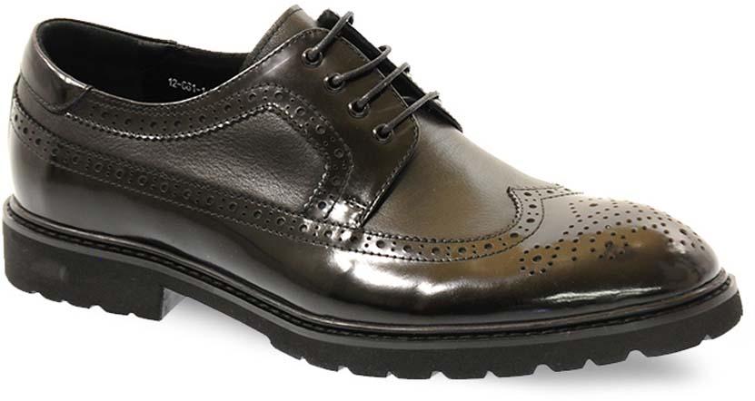 Туфли мужские Vera Victoria Vito, цвет: черный, коричневый. 12-661-1. Размер 4212-661-1Элегантные мужские туфли от Vera Victoria Vitoзаймут достойное место среди вашей коллекции обуви. Модель выполнена из натуральной высококачественной кожи и оформлена перфорацией. Шнуровка позволяет прочно зафиксировать модель на ноге. Стелька из натуральной кожи позволяет вашим ногам дышать. Каблук и подошва с рифлением обеспечивают отличное сцепление с поверхностью. Стильные туфли прекрасно дополнят ваш деловой образ.