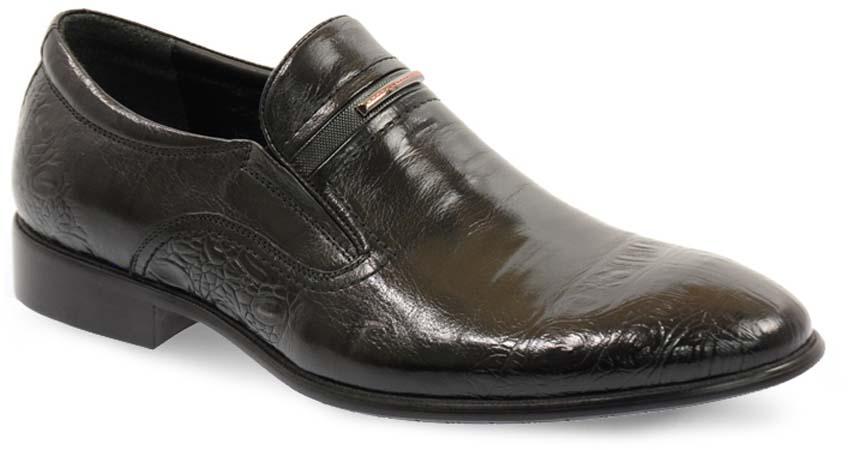 Туфли мужские Vera Victoria Vito, цвет: черный. 12-630-1. Размер 4112-630-1Изысканные туфли от Vera Victoria Vito - незаменимая вещь в гардеробе каждого мужчины. Модель выполнена из натуральной высококачественной кожи и декорирована тиснением. Резинки, расположенные на подъеме, гарантируют оптимальную посадку обуви на ноге. Стелька из натуральной кожи комфортна при движении. Умеренной высоты каблук и подошва с рифлением защищают изделие от скольжения. Элегантные туфли станут прекрасным завершением вашего модного образа.