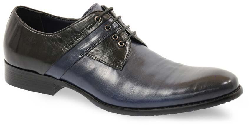 Туфли мужские Vera Victoria Vito, цвет: синий, черный. 3-717-5. Размер 403-717-5Модные мужские туфли от Vera Victoria Vito не оставят вас равнодушным. Модель выполнена из натуральной кожи и оформлена прострочкой. Классическая шнуровка надежно зафиксирует модель на ноге. Подкладка и стелька из мягкой кожи, предотвратят натирание и обеспечат комфорт при носке. Подошва, изготовленная из прочной и гибкой резины, дополнена небольшим каблуком. Рифление подошвы гарантирует отличное сцепление с различными поверхностями. Стильные туфли - незаменимая вещь в гардеробе каждого мужчины.