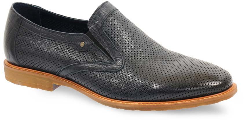 Туфли мужские Vera Victoria Vito, цвет: черный. 12-710-5. Размер 4112-710-5Изысканные туфли от Vera Victoria Vito - незаменимая вещь в гардеробе каждого мужчины. Модель выполнена из натуральной высококачественной кожи и декорирована перфорацией. Резинки, расположенные на подъеме, гарантируют оптимальную посадку обуви на ноге. Стелька из натуральной кожи комфортна при движении. Умеренной высоты каблук и подошва с рифлением защищают изделие от скольжения. Элегантные туфли станут прекрасным завершением вашего модного образа.