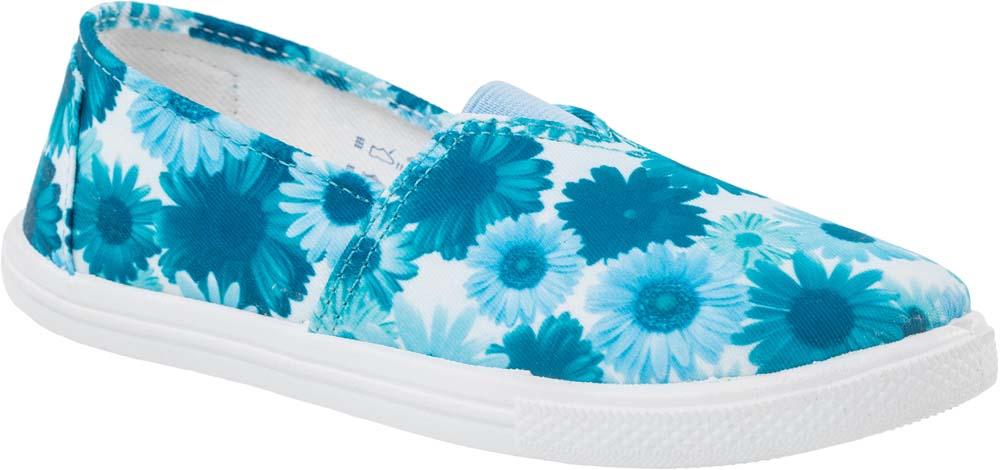 Туфли для девочки Котофей, цвет: голубой, белый, синий. 631060-11. Размер 33631060-11Прелестные туфли для девочки от Котофей выполнены из текстиля и оформлены цветочным принтом. Подкладка и стелька из текстиля комфортны при движении. Эластичная вставка на подъеме для идеальной посадки модели на ноге. Подошва дополнена рифлением.