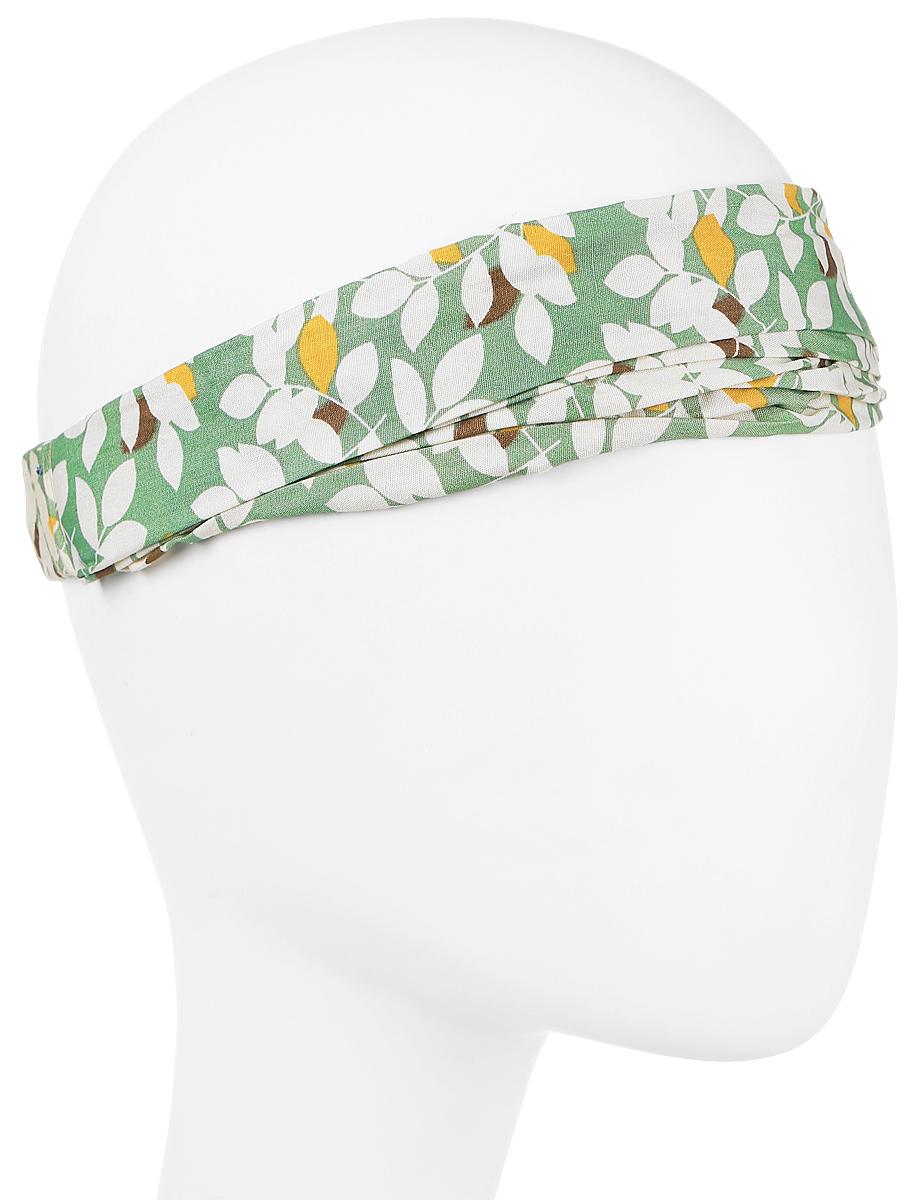 Повязка на голову женская Maxval, цвет: бирюзовый. PoW141031. Размер универсальныйPoW141031Повязка на голову выполнена из хлопка в яркой цветовой гамме. Размер универсальный. Возможны различные варианты носки.