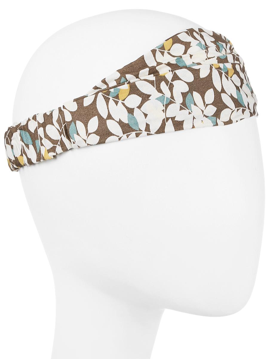 Повязка на голову женская Maxval, цвет: бежевый. PoW141031. Размер универсальныйPoW141031Повязка на голову выполнена из хлопка в яркой цветовой гамме. Размер универсальный. Возможны различные варианты носки.