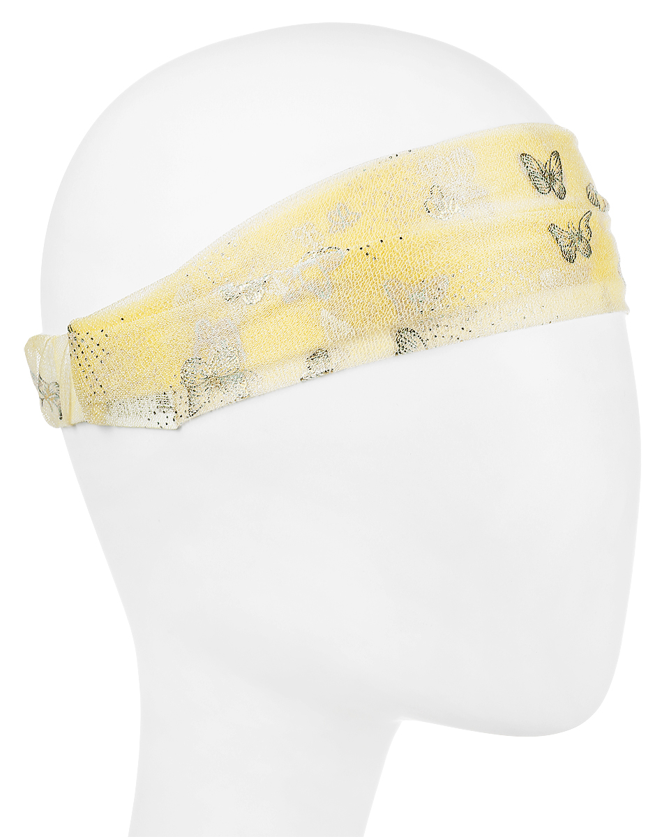 Повязка на голову женская Maxval, цвет: желтый. PoW100277. Размер 26 смPoW100277Повязка на голову Maxval выполнена из полиэстера в яркой цветовой гамме. Размер универсальный. Возможны различные варианты носки.