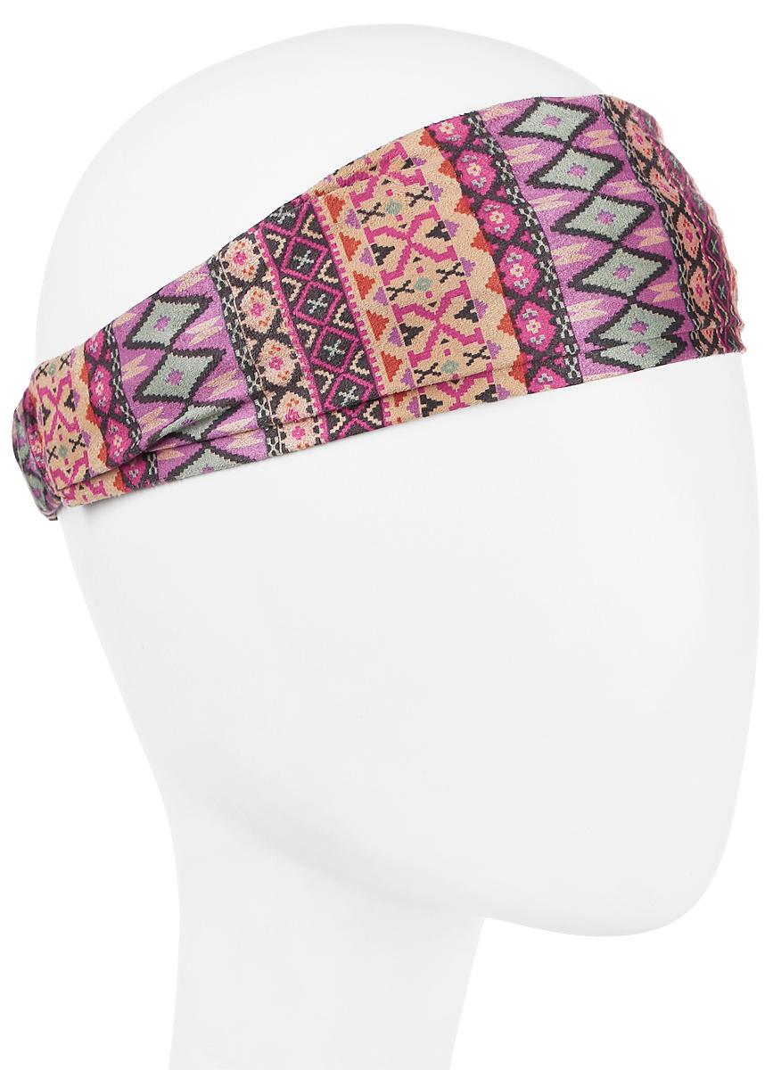 Повязка на голову женская Maxval, цвет: розовый, бежевый, фиолетовый. PoW141030. Размер универсальныйPoW141030Повязка на голову Maxval выполнена из смесовой ткани в яркой цветовой гамме. Размер универсальный. Возможны различные варианты носки.