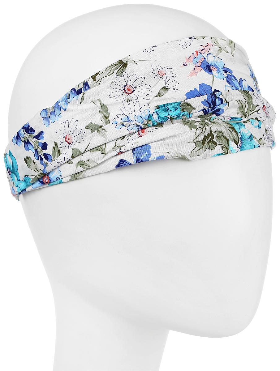 Повязка на голову женская Maxval, цвет: голубой. PoW141032. Размер универсальныйPoW141032Повязка на голову Maxval выполнена из хлопка в яркой цветовой гамме. Размер универсальный. Возможны различные варианты носки.
