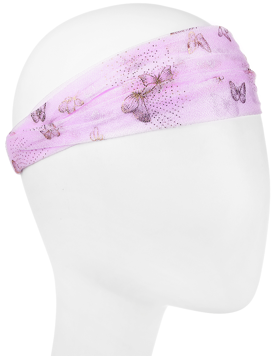 Повязка на голову женская Maxval, цвет: сиреневый. PoW100277. Размер 26 смPoW100277Повязка на голову Maxval выполнена из полиэстера в яркой цветовой гамме. Размер универсальный. Возможны различные варианты носки.