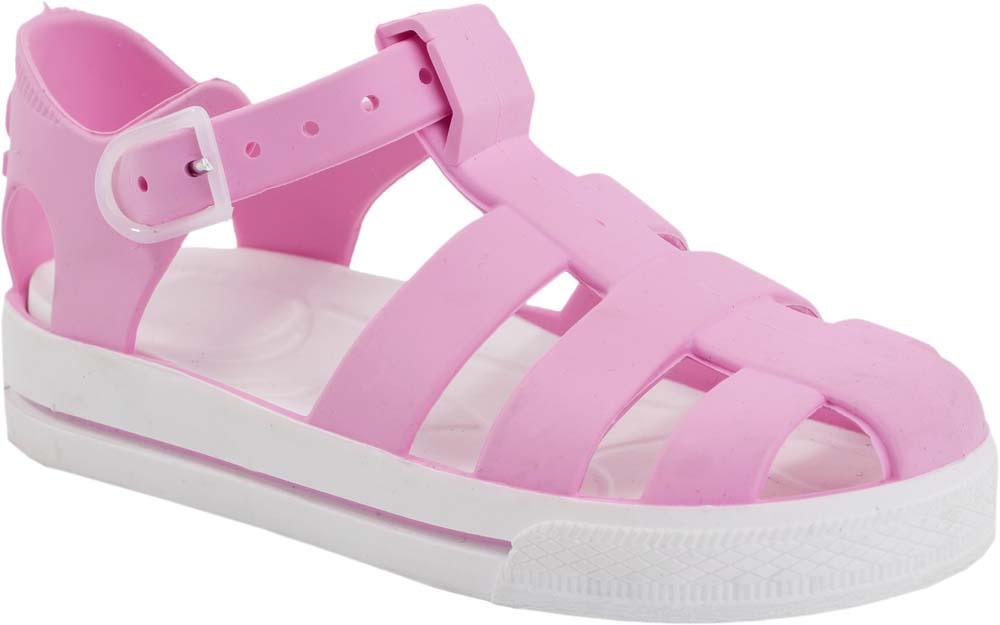 Сандалии для девочки Котофей, цвет: розовый, белый. 325044-03. Размер 25/26325044-03Модные сандалии для девочки от Котофей полностью выполнены из материала ЭВА. Ремешок с пряжкой надежно зафиксирует модель на ноге. Стелька из материала ЭВА имеет рельефную поверхность, которая обеспечивает комфорт при движении. Подошва дополнена рифлением.