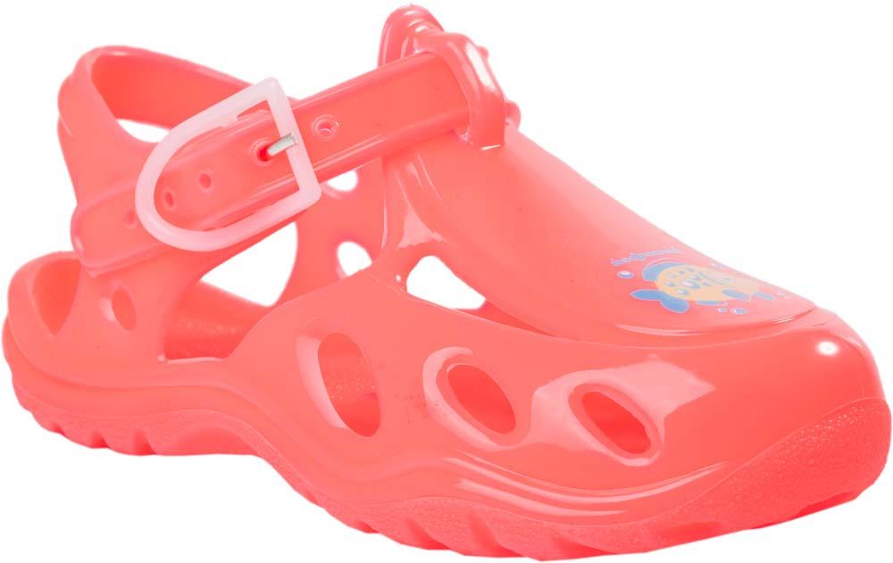 Сандалии для девочки Котофей, цвет: коралловый. 326003-06. Размер 24/25326003-06Модные сандалии для девочки от Котофей полностью выполнены из резины. Ремешок с пряжкой надежно зафиксирует модель на ноге. Подошва дополнена рифлением.