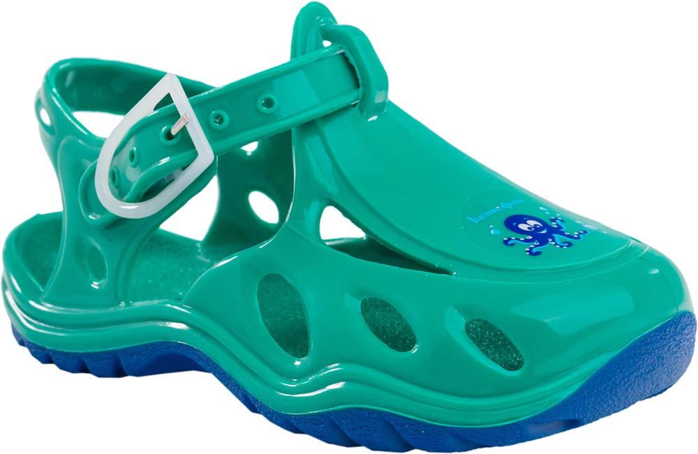 Сандалии для мальчика Котофей, цвет: зеленый. 326003-03. Размер 28/29326003-03Модные сандалии для мальчика от Котофей полностью выполнены из резины. Ремешок с пряжкой надежно зафиксирует модель на ноге. Подошва дополнена рифлением.