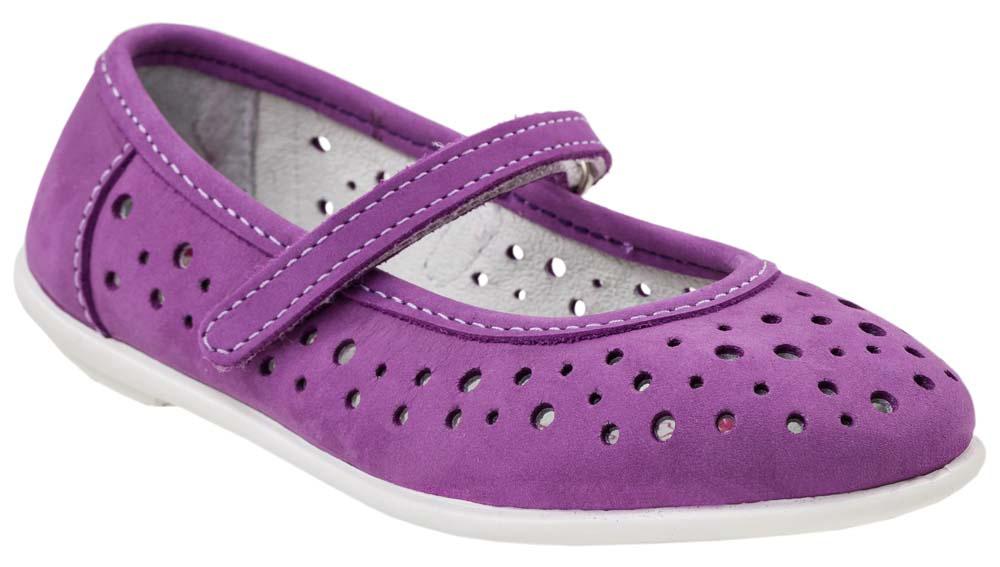 Туфли для девочки Котофей, цвет: фиолетовый. 432111-24. Размер 32432111-24Модные туфли для девочки от Котофей, выполненные из натурального нубука, оформлены перфорацией. Ремешок с застежкой-липучкой обеспечивает надежную фиксацию модели на ноге. Внутренняя поверхность и стелька из натуральной кожи гарантируют комфорт при движении. Подошва дополнена рифлением.