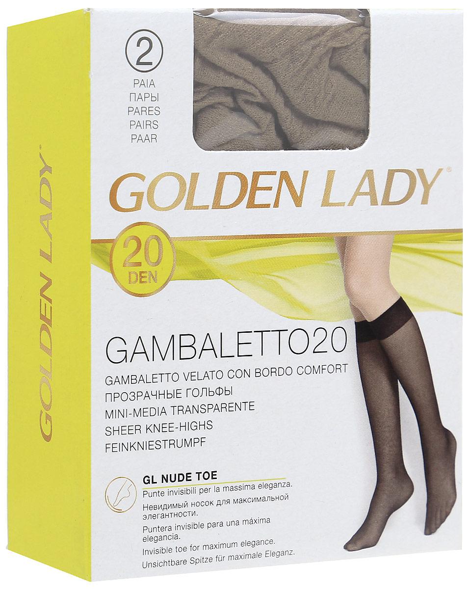 Гольфы Golden Lady Gambaletto 20, цвет: Melon (телесный), 2 пары. Размер универсальныйGambaletto 20Тонкие полиамидные гольфы Golden Lady с комфортной резинкой.