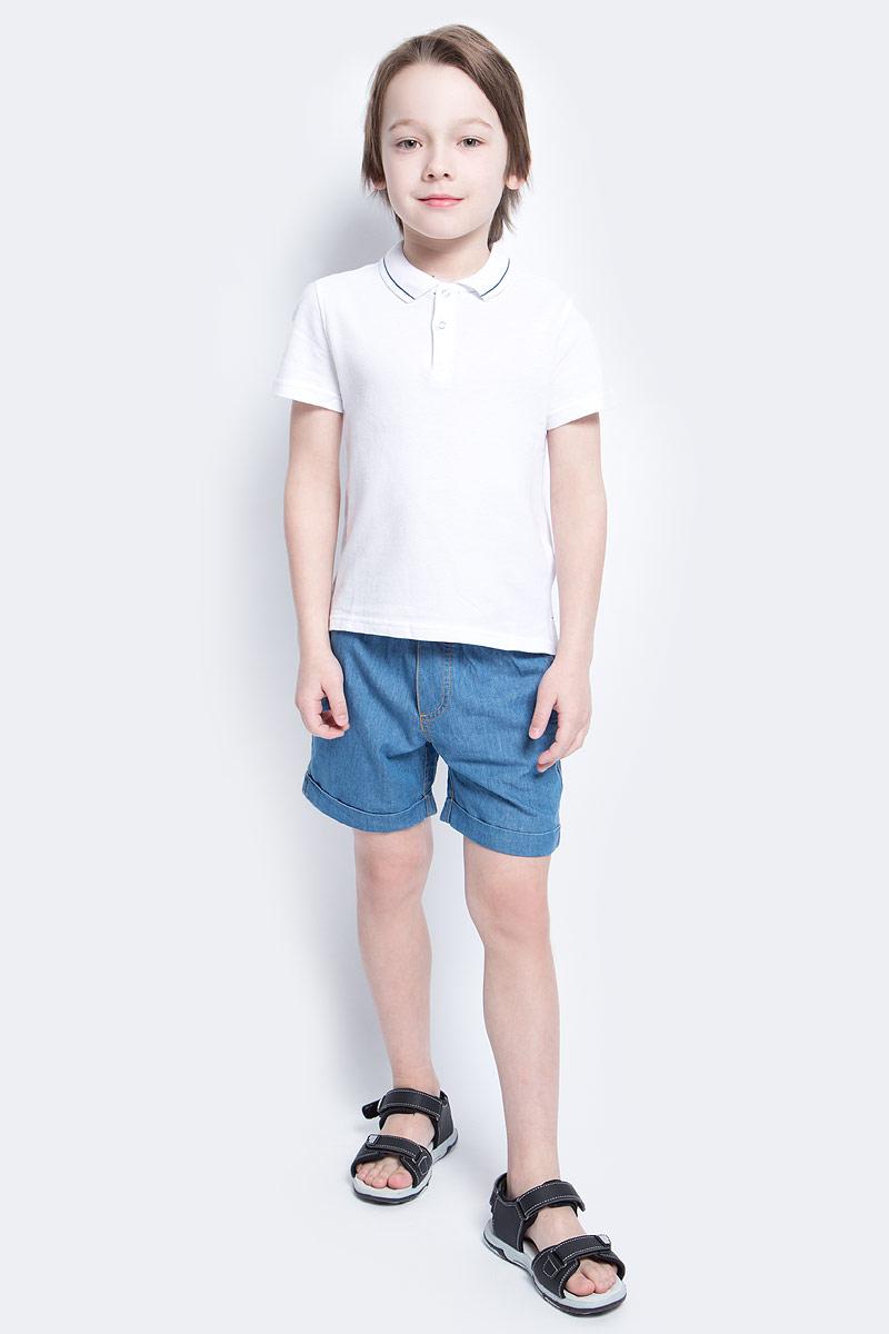 Поло для мальчика Button Blue Main, цвет: белый. 117BBBC14010200. Размер 140, 10 лет117BBBC14010200Футболка-поло - изделие из разряда Must Have. Это не только базовая вещь в гардеробе ребенка, но и залог хорошего летнего настроения. Если вы решили купить недорогуюфутболку-поло для мальчика, выберете эту модель от Button Blue и ваш ребенок будет доволен.