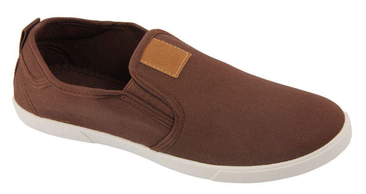 Слипоны мужские In Step, цвет: коричневый. JT9396. Размер 44JT9396Стильные мужские слипоны от In Step выполнены из высококачественного текстиля. Подошва из ПВХ устойчива к изломам. На подъеме модель дополнена эластичными вставками для удобства надевания. Аккуратно смотрятся на ноге, комфортно носятся.