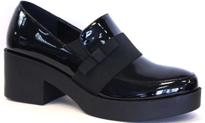 Полуботинки женские LK collection, цвет: черный. SP-XA0101-2 PU (SP-X01001-3). Размер 38SP-XA0101-2 PU (SP-X01001-3)Модные женские полуботинки на массивном каблуке и подошве выполнены из искусственной лаковой кожи. Стелька выполнена из натуральной кожи.
