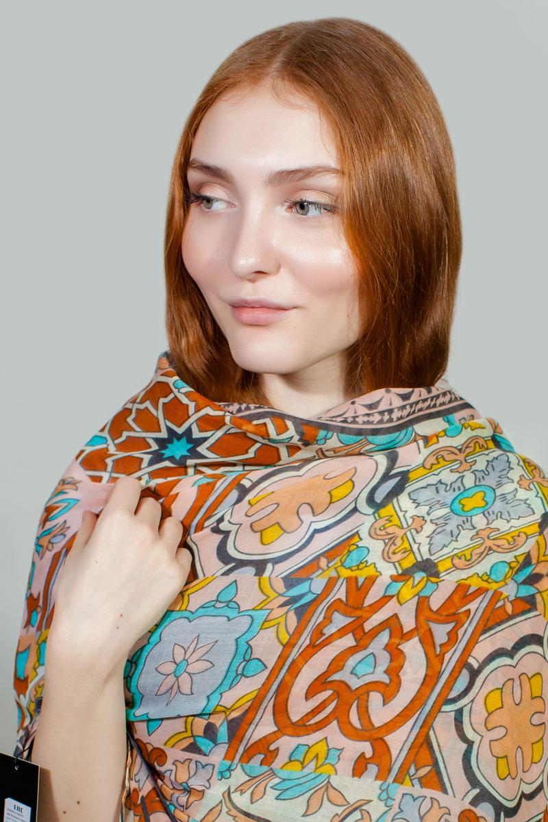 Палантин Sophie Ramage, цвет: серый, коричневый, голубой. BT-11701-56. Размер 80 см х 180 смBT-11701-56Яркий палантин Sophie Ramage изготовлен из модала и шелка. Модель оформлена оригинальным принтом. Изделия Sophie Ramage приятные на ощупь и подойдут к любому стилю.